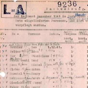 Prisonniers de l'annexe du Grand Séminaire 1941